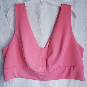 NWT Forever 21 Vneck Thick Strap Tank Crop Top Bra